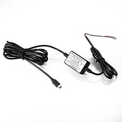 On-Dash Camera Vehicle Hard Wire Kit - Mini USB Compatible w