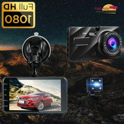 For Day Night Vision HD 1080P Dual Lens Camera  Car DVR Dash