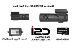 Blackvue DR900S-2CH 4K Dash cam 64 GB Memory Card and Power