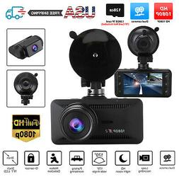 Dual 1080P Car Dash Cam Front and Rear Camera Driving Record