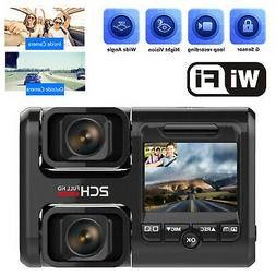 Wifi Dual 1920*1080P Dash Cam Front and Inside Infrared Nigh