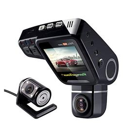 Dual Channel Dash Cam FHD 1080P Front Rear Camera for Cars,