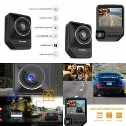 Dual Dash 1080P Front & Rear Cam For Cars Camera Recorder Wi