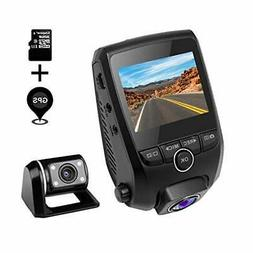 ZXS Dual Dash Cam, 1080P HD Front and