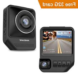 AWESAFE Dual Dash Cam for Cars Front and Inside Dash Cam wit