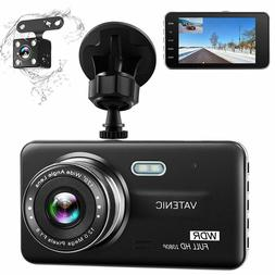 Dual Dash Cam Car Dashboard Camera Recorder FHD 1080P Front