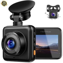 Dual Dash Cam for Cars 1080P FHD Front and Rear w/ Night Vis