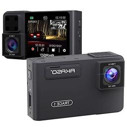Dual Dash Cam Front and Rear - AKASO 1080P60 FHD Uber Dash C