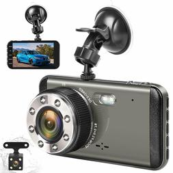 Dual Dash Cam Front and Rear Camera H3 FHD 1080P Night Visio