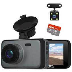 Dual Dash Cam Front and Rear FHD 1080P with Night Vision and