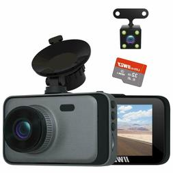 iiwey Dual Dash Cam Front and Rear FHD 1080P Night Vision an