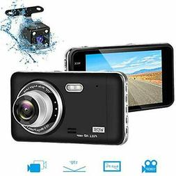 Dual Dash Cam Front And Rear, Full HD 1080P Camera For Cars