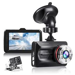 TOGUARD Dual Dash Cam Front and Rear Night Vision 1080P Car