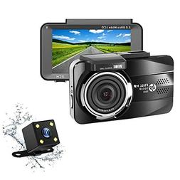 HP Dual Dash Cam Full HD 1080P Front and Rear Dashboard Came