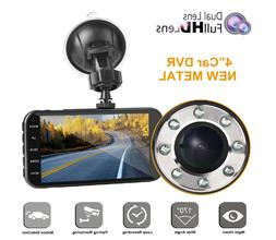 Dual Dash Cam with Night Vision Motion Detection Parking Mon