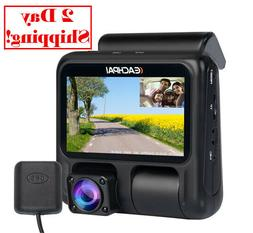 Dual Dash Cam,EACHPAI X100 Pro Camera for Cars 1920X1080P Da