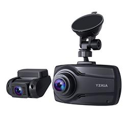 "AUKEY 1080p Dual Dash Cams with 2.7"" Screen, Full HD Front"