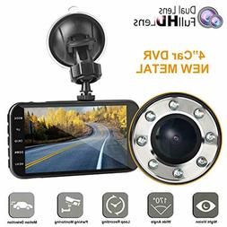Dual dash car cam, FHD 1080P camera front and rear with nigh