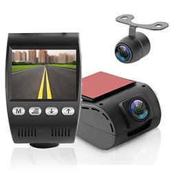 Full HD 1080p Dual DVR Video Recording Dash Cam system, with