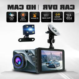 dual lens camera hd car dvr dash