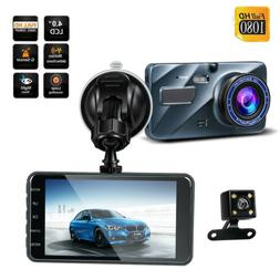 Dual Lens DVR Camera Full HD 1080P Dash Cam G-sensor Camera