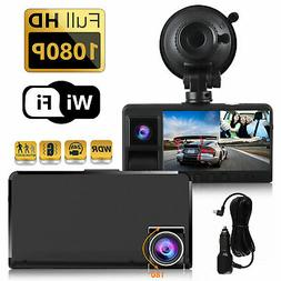 Dual Lens WIFI Camera HD Car DVR Dash Cam Video Recorder G-S