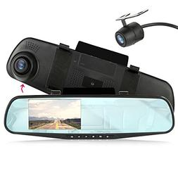 DVR CAM & MNTR RECORDING SYST DUAL CAM 1080P 4.3IN