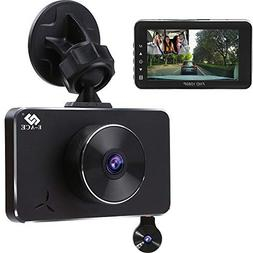 E-ACE Dash Cam Dual Lens FHD 1080p Car Video Recorder in Car