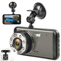 Effort Dual Dash Cam Front and Rear,H3 FHD 1080P Night Visio