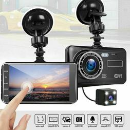 FHD 1080P Dual Lens Dash Cam Car DVR Camera Video Recorder G