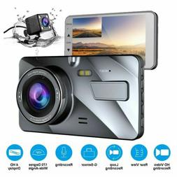G-sensor Car Camera Dual Dash Cam Front and Rear Night Visio