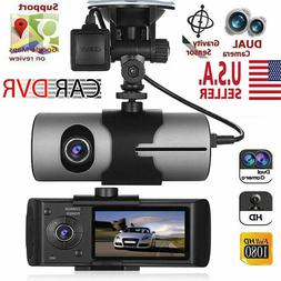 GPS Camera HD Car DVR Dash Cam Video Recorder Dual Lens Nigh