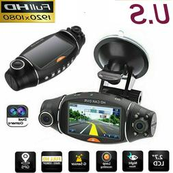 GPS Dual Lens Vehicle Car DVR Dash Cam Rear Video Camera Rec