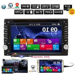 GPS Navigation Double Din In Dash Car DVD Radio Stereo Playe