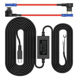 Pruveeo Hard Wire Kit for Dash Cam with 2 Fuse Tap Cable, Mi