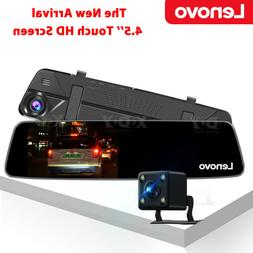 HD 1080P 7'' Dual Lens Rearview Mirror In Car DVR Video Came