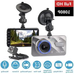 HD 4 Inch Dual Lens Image 1080P Hidden Wide Angle Driving Re