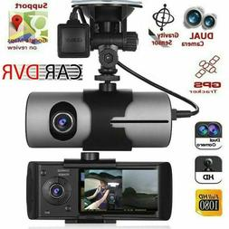 HD Car DVR Dash Cam Video Recorder Dual Lens GPS Camera G-Se
