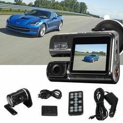 hd dual lens 2 car dvr dash