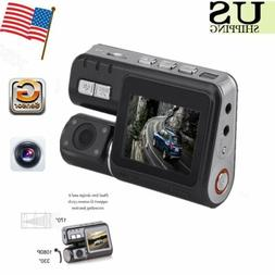 "HD Dual Lens Car DVR Dash Cam 2"" Vehicle Rearview Camera Vid"