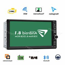 "In Dash 7"" Android 8.1 Oreo 2Din Car Stereo GPS Navi Radio W"