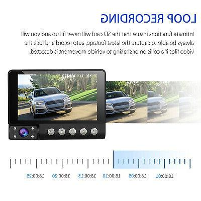 4'' HD Lens DVR Cam Video Rearview