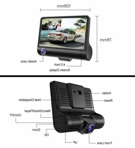 "1080P 4"" HD Car Video Dash Camera"