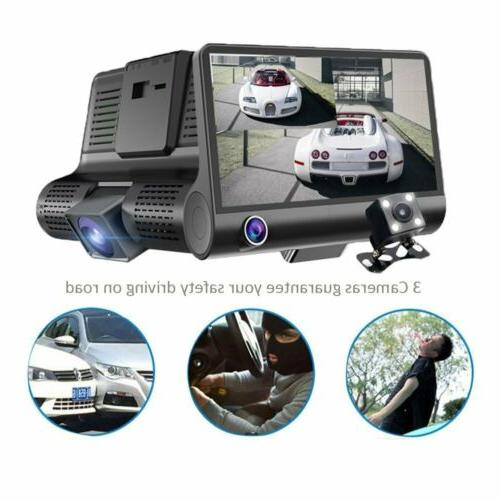 "1080P 4"" Dual HD Car Rearview Video Camera G-Sensor"
