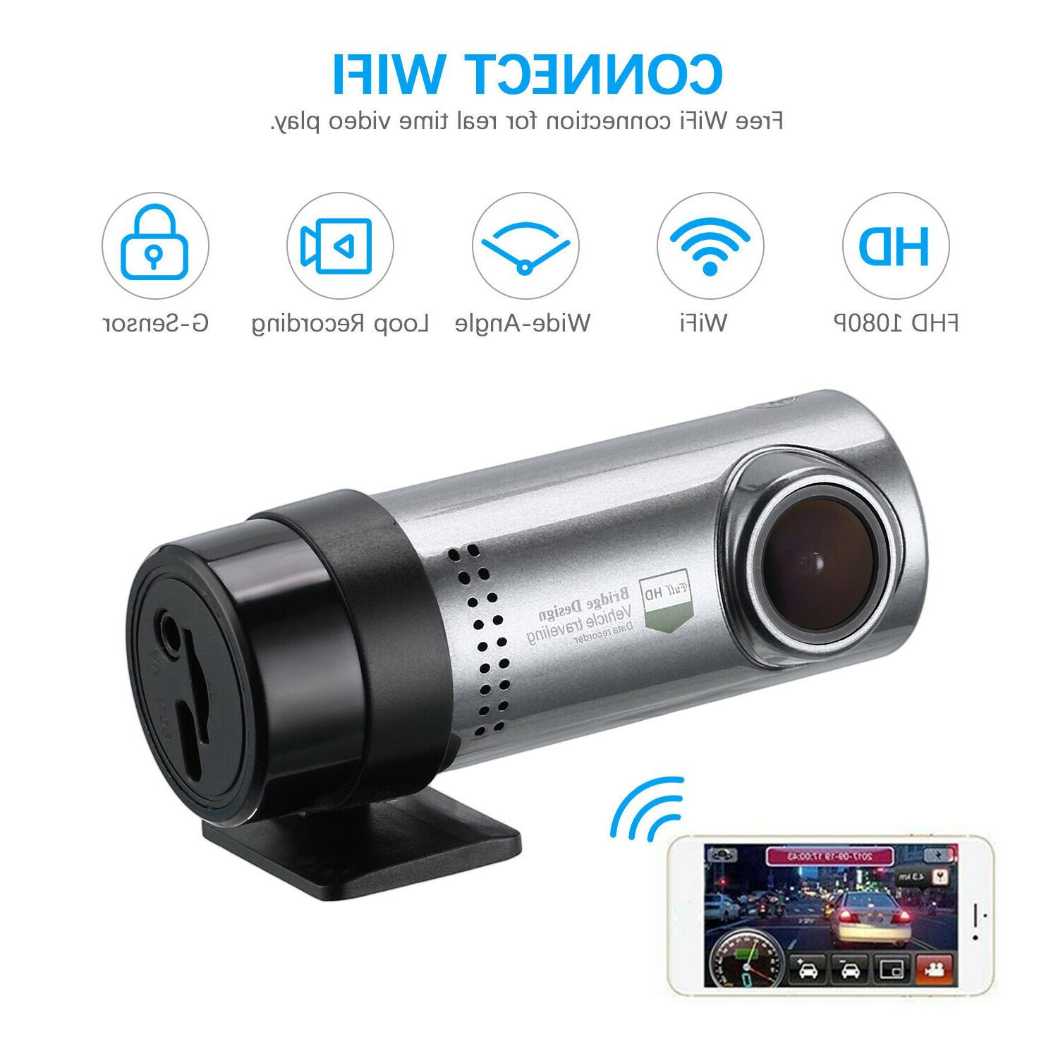 1080P Hidden Car Camera DVR Dash Cam Recorder With WiFi G-se