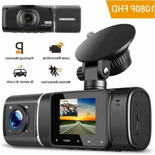 1080P Dual Dash Cam IR Night Front And Inside Camera Car Dri