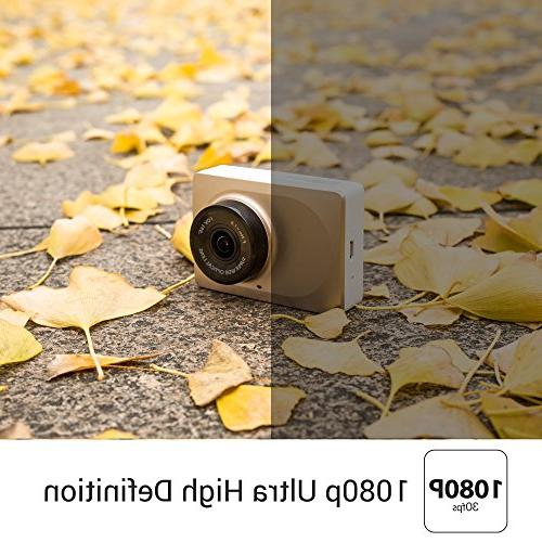 """YI 2.7"""" Screen HD 1080P60 Angle DVR Vehicle with WDR, Recording,"""