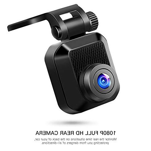 APEMAN 1440P&1080P Cam Full Front and Camera Cars, Driving Recorder with IR 150 Wide 6G Loop