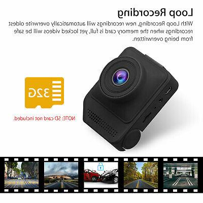 "2.3"" Dual Lens Car Dashboard Video Recorder Cam"