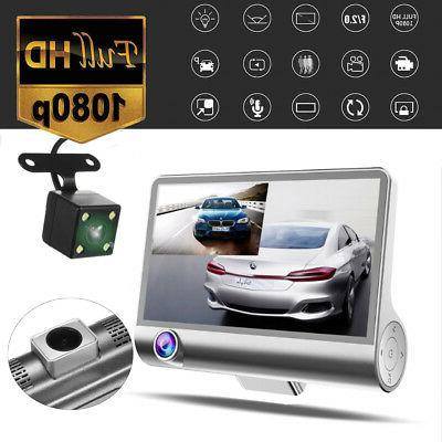 3 Car DVR 1080P Dashboard Camera Cam Camcorder